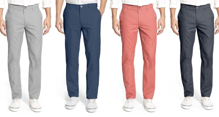 …because chinos really aren't what they used to be, and by that we mean they're not like your grade-school uniform, thankfully as we're still tormented by those. In slimmer fits, flat front options and a wide variety of colors and prints, you can now easily transition from …