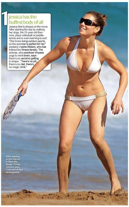 Jessica Biel has a great beach body!