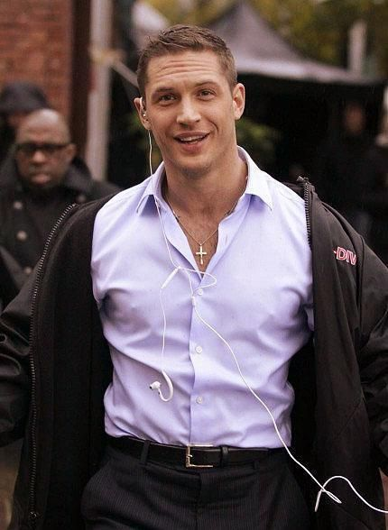 Tom Hardy.. I'd like to know what he listens to.. while I have my arms tucked away nice and warm around his waist.. is that too much to ask??