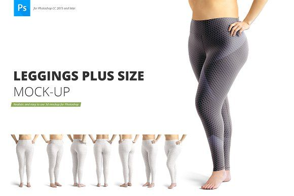 Leggings Plus Size Mockup Free Leggings Leggings Design Mockup