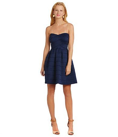 B. Darlin strapless A line bandage dress