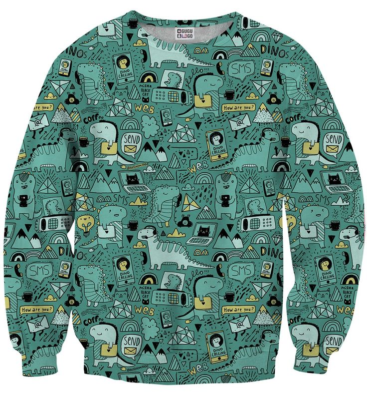 Dino Tech sweater, Mr. GUGU & Miss GO