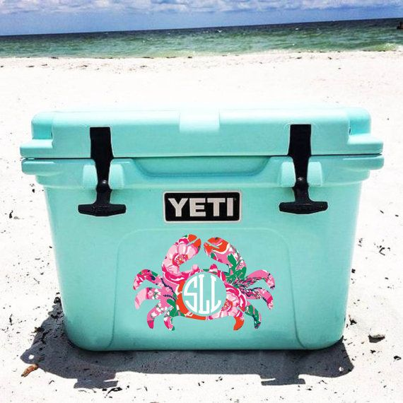 Lilly Pulitzer inspired Sea life monogram decal Sea by SLrustic