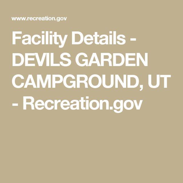 Facility Details - DEVILS GARDEN CAMPGROUND, UT - Recreation.gov