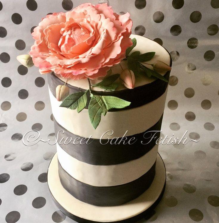 Black & White Double Barrel Cake