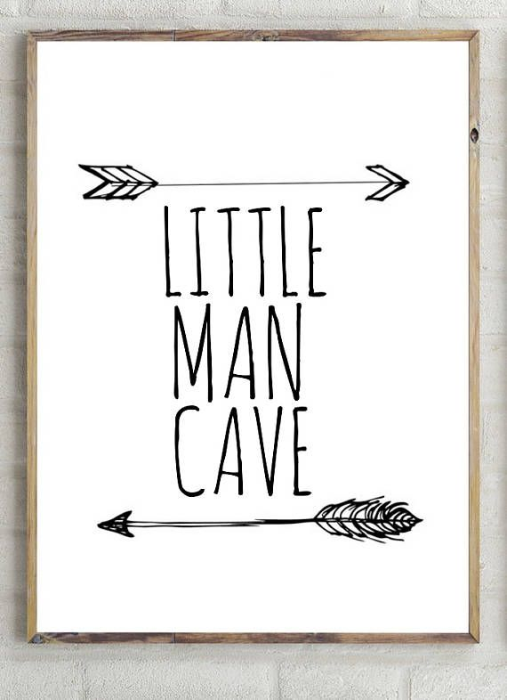 Little Man Cave Print Boys Decor Instant Download Printable Boys Wall Inspiring Wall Printable Boy Quote Nursery Poster Ad