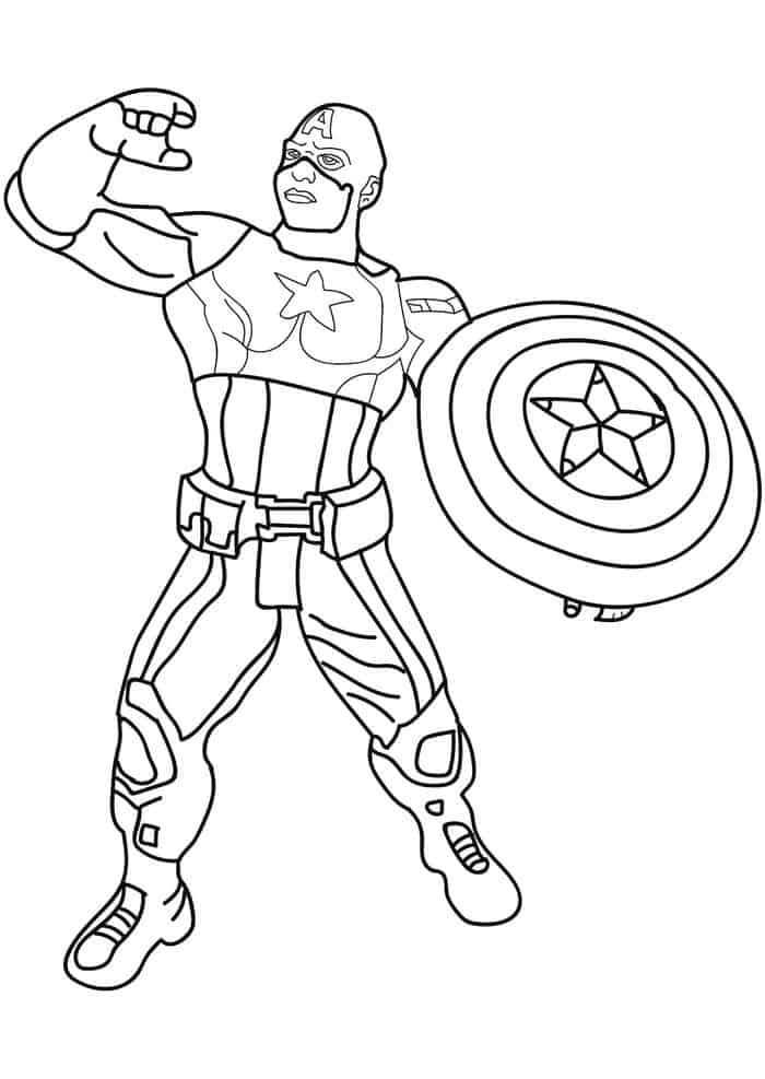 Captain America Printable Coloring Pages In 2020 Captain America