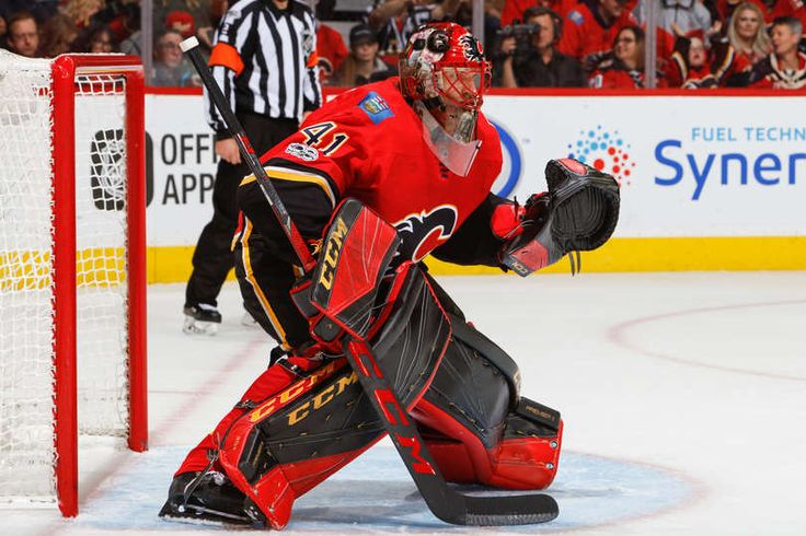 Goalie Mike Smith #41 of the Calgary Flames