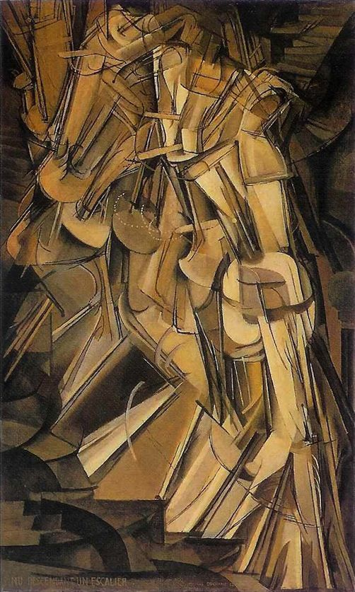 loverofbeauty:  Marcel Duchamp: Nude descending a staircase  (1912)