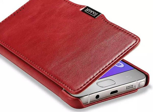 iCarer Samsung Galaxy Note 5 Case Vintage Genuine Leather Wallet Case