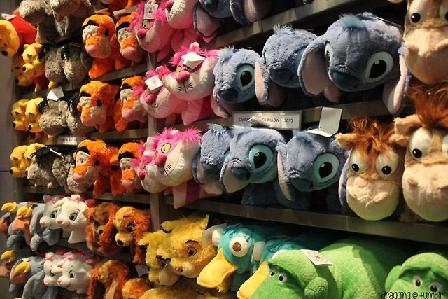 Disney pillow pets ♡ I really want a stitch one, and the bulls eye one and the rex :)