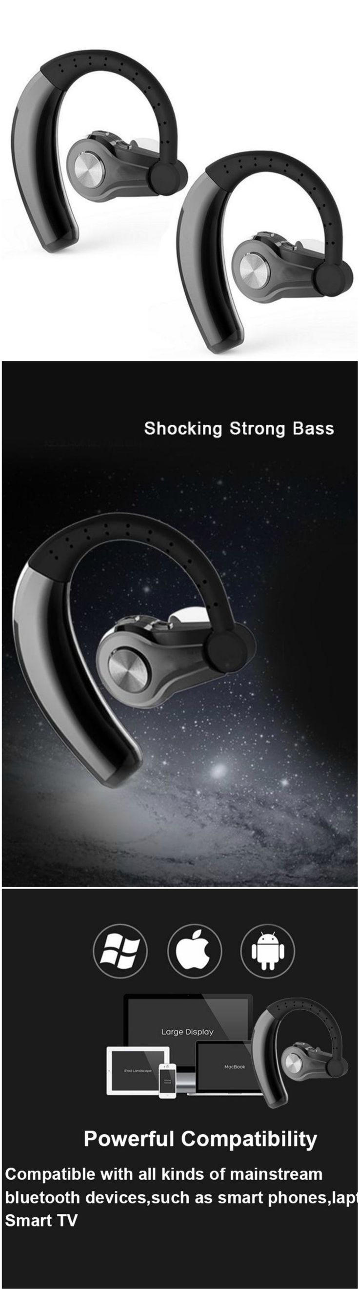 Bluetooth Headphone Sport Headphones Wireless Headset with Microphone. Fits into workout and gym clothes. #giftideas #fitnessgifts – Fuel Up Shape Up