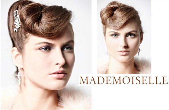 Wedding Day Hair: 10 vintage-inspired styles:  Sleek Retro Updo