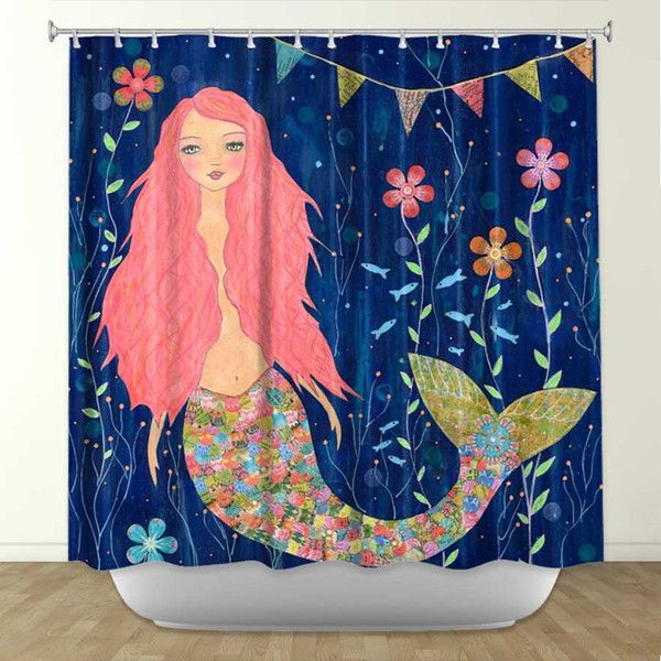 Mermaid Gifts Mermaid Decor Mermaid Art Print Mother S: DiaNoche Designs Pink Mermaid By Sascallia Fabric Shower