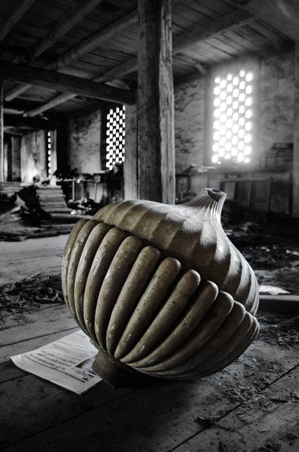 The Ceramics Factory of Devezas - Vila Nova de Gaia, Portugal. Abandoned ornaments and statuary lie in ruins all over the factory.