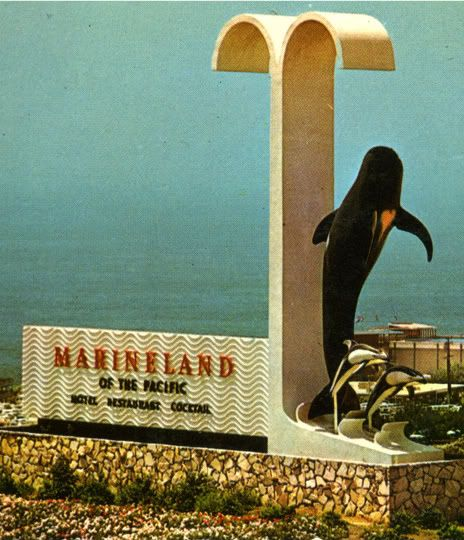 Entrance to the now defunct Marineland of the Pacific. Palos Verdes, Ca.