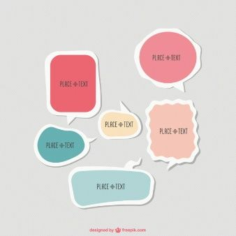 Cute polygonal speech bubbles