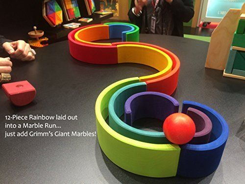 Grimm's Toys Rainbow Stacking Toy, xtra-large £45