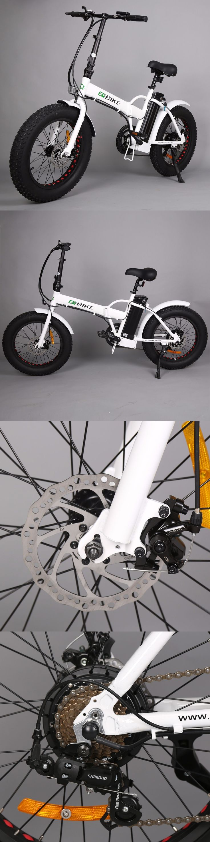 Electric Bicycles 74469: White Folding Fat Tire E-Bike 350W 20 Mountain Bike Electric Bicycle Moped -> BUY IT NOW ONLY: $780 on eBay!