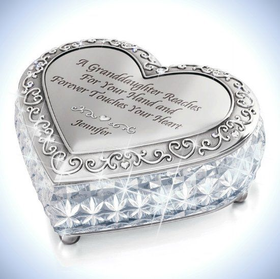 Gift Music Boxes For Granddaughters Personalized Crystal Music Box