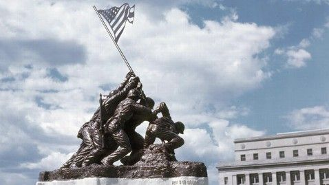 Collector to auction smaller prototype of Iwo Jima statue | @MuseumStore Autographed Iwo Jima photo w/ relic http://www.museumstorecompany.com/Iwo-Jima-Flag-Raising-Autographed-and-Signed-by-Mahlon-Fink-with-Artifact-Relic-p6765.html