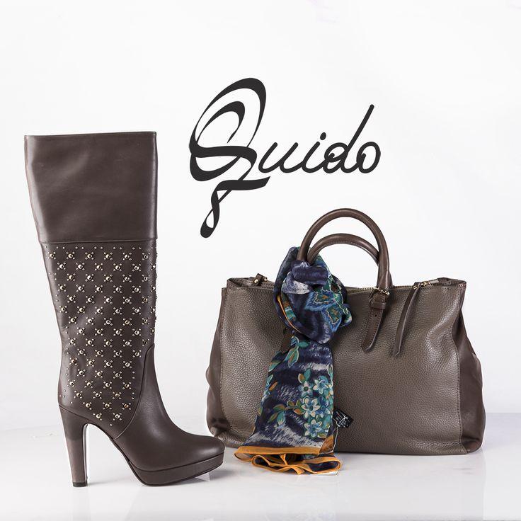 ¡Zapatos, botas, carteras y muchos más accesorios!  No te pierdas nuestros productos, importados desde y Italia con la mejor calidad.: Bota de cuero – Cartera de cuero – Pasmina azul con flores de Seda.