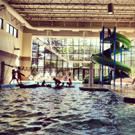 Grand traverse resort pool slide a place to s w i m - Indoor swimming pool with slides london ...