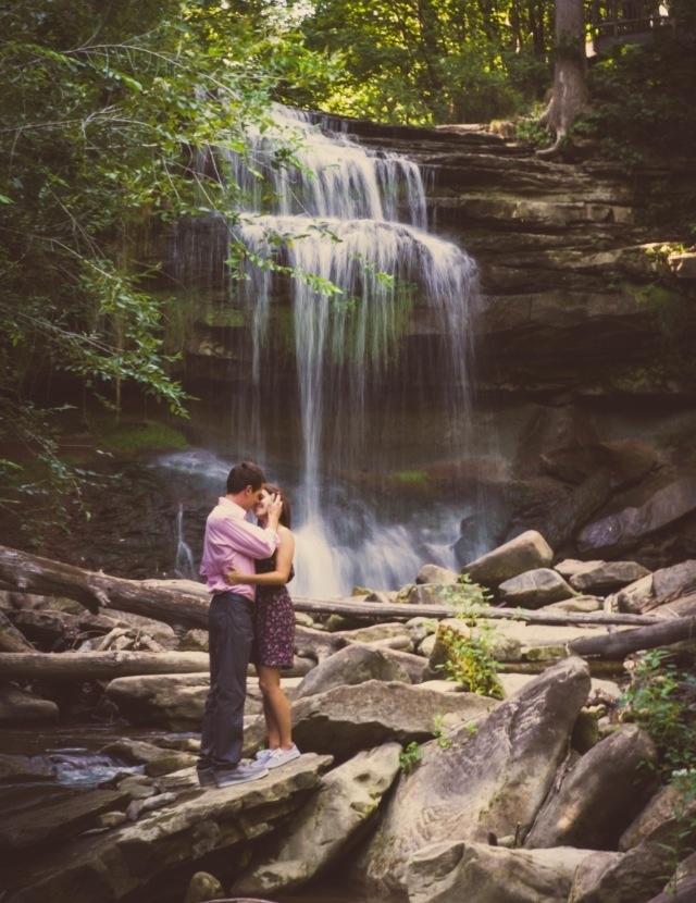 Under the falls engagement shoot.  http://11-eleven.ca (Dustin Newhook)