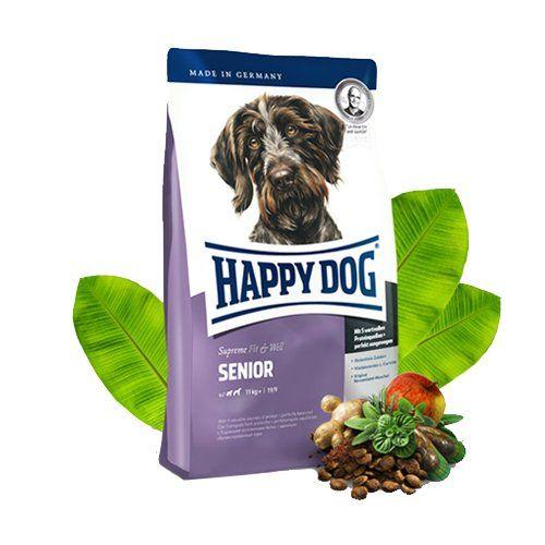 Aus der Kategorie Trockenfutter  gibt es, zum Preis von EUR 1,75  Senior Hund<br /> Mit steigendem Lebensalter verändert sich der Stoffwechsel Ihres Hundes. Zur Unterstützung dieses Prozesses sollte ein gutes Futter daher geringere Protein-, Natrium- und Phosphor-Gehalte haben. Der Energiegehalt an sich sollte jedoch nur ein wenig vermindert werden.<br /> <br /> Happy Dog Supreme Fit & Well Adult Senior<br /> Happy Dog Fit & Well Senior Hundefutter wird aus Geflügel, Lamm, Fisch, Reis und…