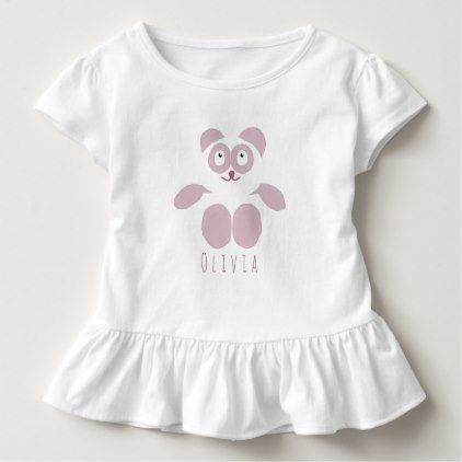 Customizable Pink Panda Toddler Ruffle Tee - toddler youngster infant child kid gift idea design diy