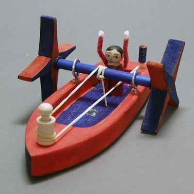 Decorated Paddleboat