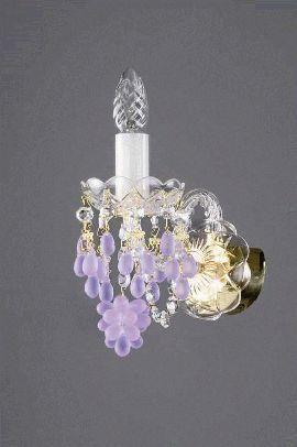 настенный светильник artglass constance i. vino violet, прозрачный, фиолетовый матовый