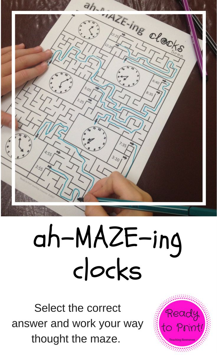 Need to reinforce both 12 and 24 hour time concepts of time but your students are over worksheet work or playing with a handmade clock? This set of mazes will encourage your students to read time and practice their fine-motor skills and problem solving all at the same time!