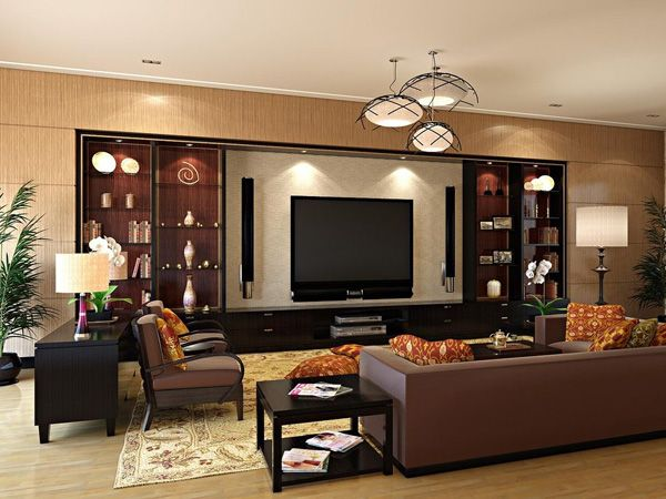 Elegant Showpiece, This Living Room Is A Showpiece. The Large Plasma Screen,  Spacious Wooden Part 12