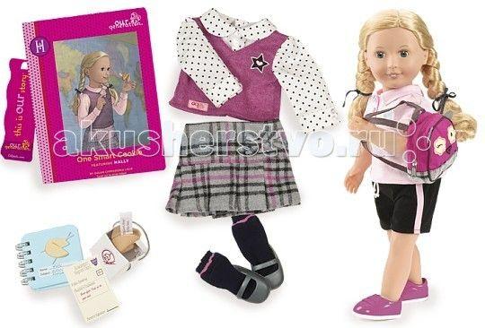 Our Generation Dolls Кукла делюкс 46 см Холли и Печенье с предсказанием для умницы  Our Generation Dolls Кукла делюкс 46 см Холли и Печенье с предсказанием для умницы принцесса обязательно полюбит набор, ведь здесь есть всё для увлекательной игры.   Холли является школьницей и имеет красивую школьную форму, а также рюкзачок. Ваша малышка может представить себя в роли родителя Холли и отправлять её в школу. Помимо этого можно будет создавать ей новые образы – её длинные волосы удобно…