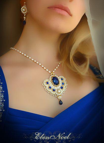 "Кулоны, подвески ручной работы. Ярмарка Мастеров - ручная работа Кулон ""Blue Sapphire"". Handmade."