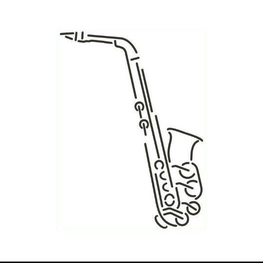 Saxophone tattoo
