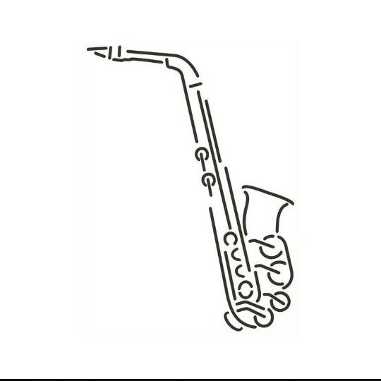 Saxophone tattoo