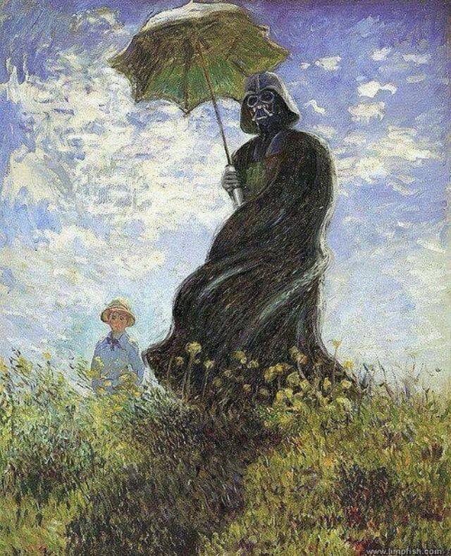 Vader With A Parasol, David Burton, Oil On Canvas, 2009