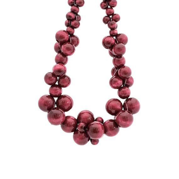 MoleCOOLs Bordeaux wooden necklace