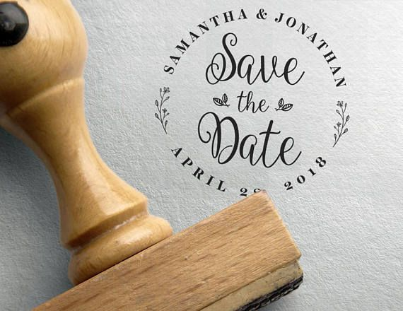 Save The Date Stamp Wedding