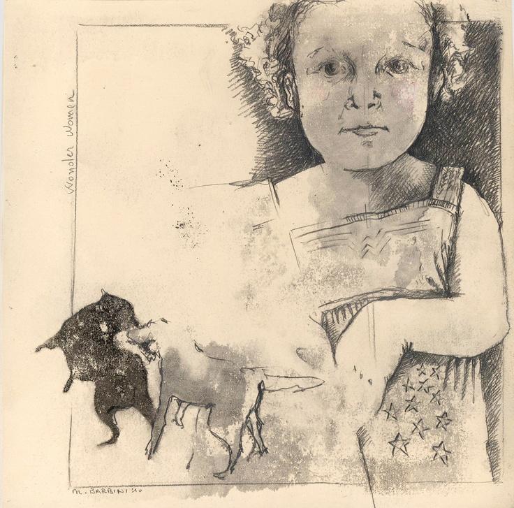 Short Tiles, graphite, ink, oil on caolin