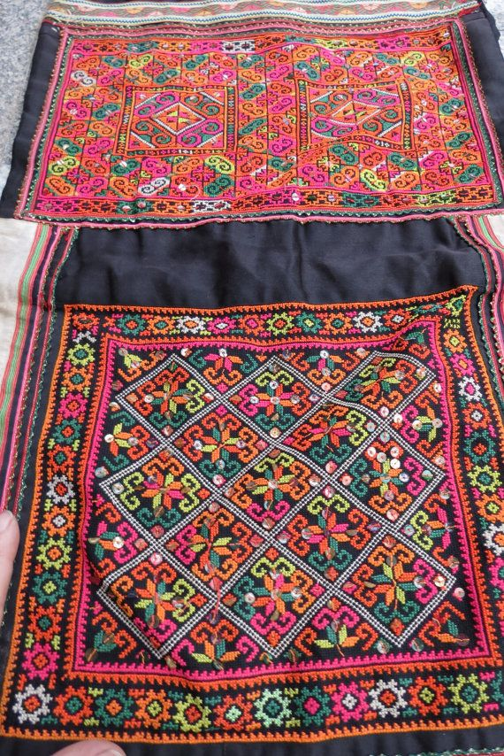 Vintage Hmong Fabric handmade tapestry textiles hill by dellshop, $44.99