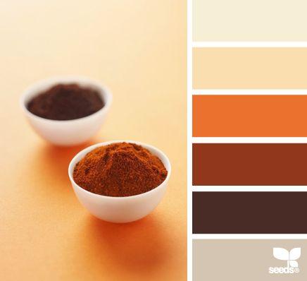 117 best beautiful color palettes images on pinterest - Orange brown color scheme ...