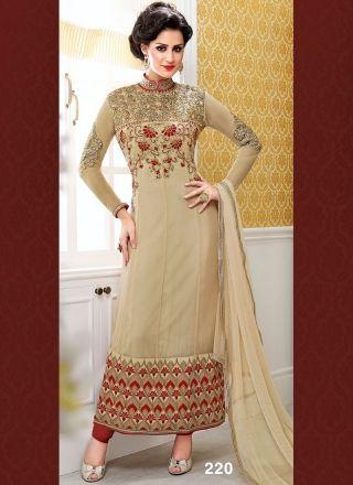 Angelic Peach And Maroon Designer Long Churidar Suit http://www.angelnx.com/Salwar-Kameez