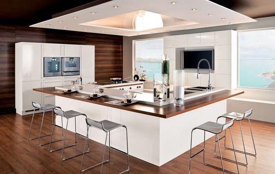 Ilot de cuisine chez Perene:
