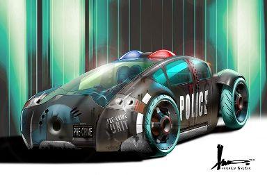 Minority Report Lexus concept artwork by Harald Belker