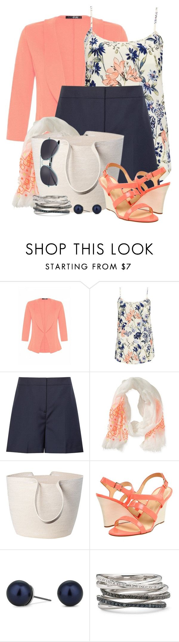 """""""Blazer, Tank & Shorts"""" by brendariley-1 ❤ liked on Polyvore featuring Quiz, Wallis, Reiss, Aéropostale, Doug Johnston, Kate Spade and Betty Jackson"""