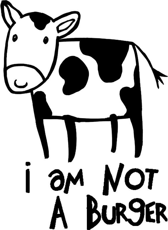 I am not a burger vegetarianism art sticker by spookyruthy