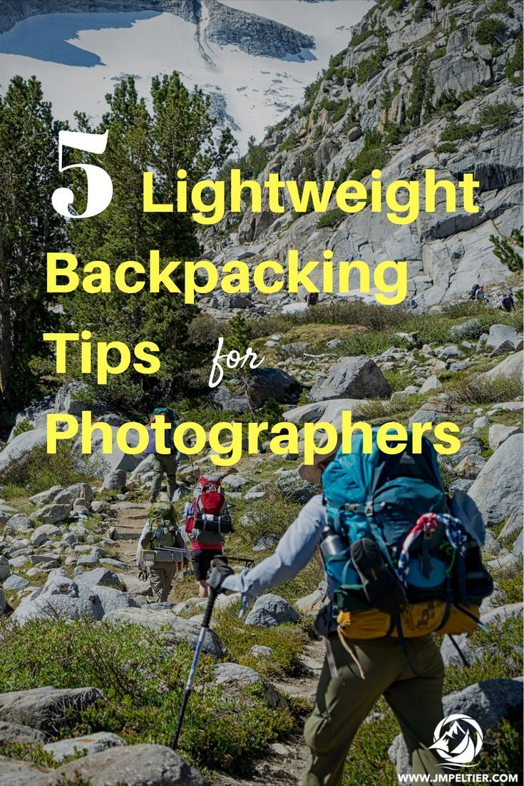 Carrying camera gear in addition to backpacking gear on long treks can add up - here's a few techniques to shed valuable ounces.